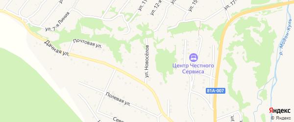 Улица Новоселов на карте Закаменска с номерами домов