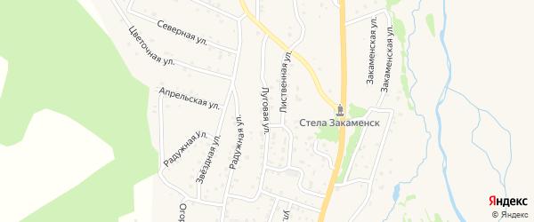 Луговая улица на карте Закаменска с номерами домов