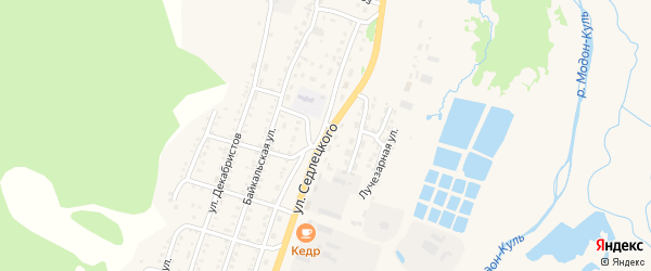 Улица Седлецкого на карте Закаменска с номерами домов