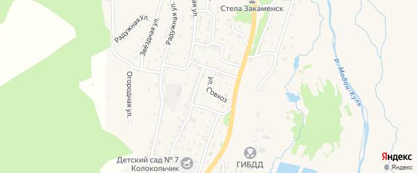 Улица Совхоз на карте Закаменска с номерами домов