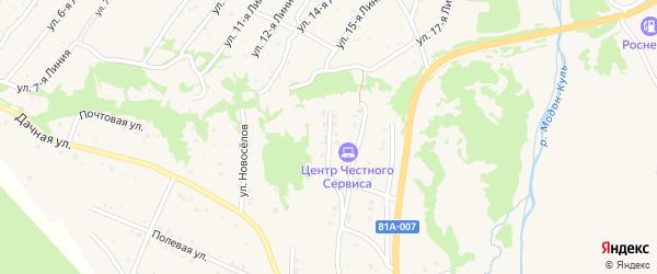 Каменная улица на карте Закаменска с номерами домов