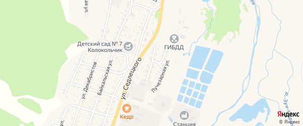 Переулок Вершинского на карте Закаменска с номерами домов