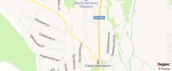 Магистральная улица на карте Закаменска с номерами домов