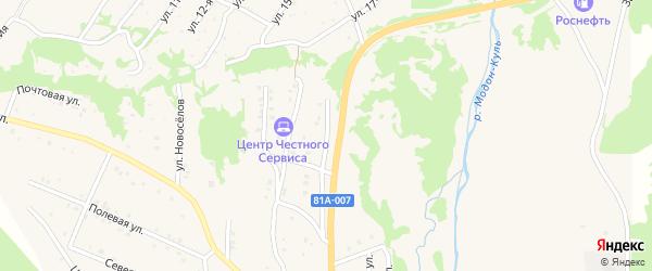 Карьерная улица на карте Закаменска с номерами домов