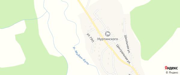 Улица ГРП на карте села Холтосна с номерами домов