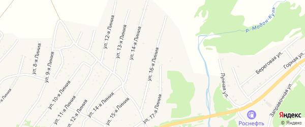 Линия 16-я улица на карте Закаменска с номерами домов