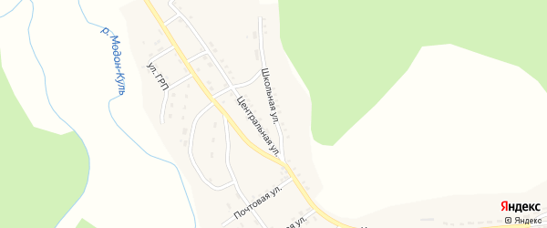 Школьная улица на карте села Холтосна с номерами домов