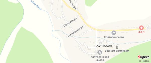 Пионерская улица на карте села Холтосна с номерами домов