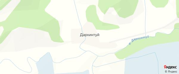 Карта улуса Дархинтуй в Бурятии с улицами и номерами домов