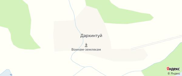 Местность Ташагай на карте улуса Дархинтуй с номерами домов