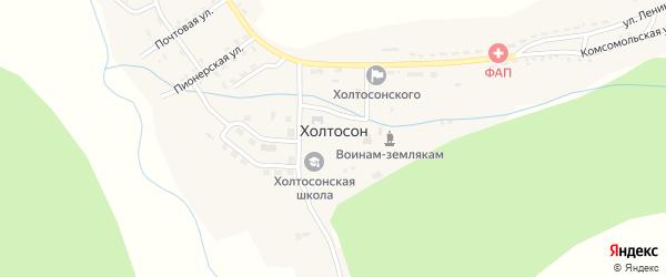 Улица Кирпичный завод на карте села Холтосна с номерами домов