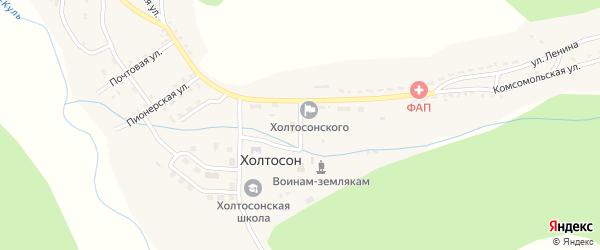 Клубная улица на карте села Холтосна с номерами домов