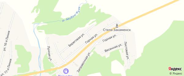 Горная улица на карте Закаменска с номерами домов