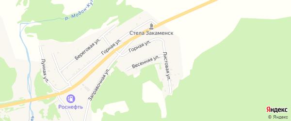 Весенняя улица на карте Закаменска с номерами домов