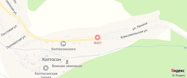 Комсомольская улица на карте села Холтосна с номерами домов