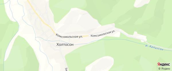 Карта села Холтосна в Бурятии с улицами и номерами домов