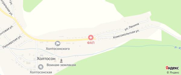 Подгорная улица на карте села Холтосна с номерами домов