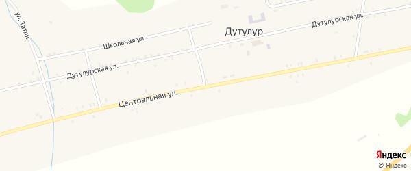 Местность Дунга-гол на карте улуса Дутулур с номерами домов