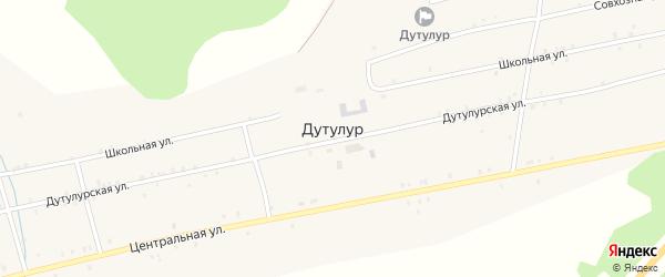 Улица Зимка на карте улуса Дутулур с номерами домов