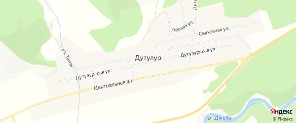 Карта улуса Дутулур в Бурятии с улицами и номерами домов