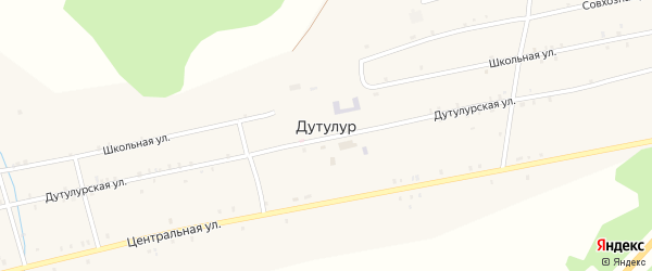 Улица Модонкуль на карте улуса Дутулур с номерами домов