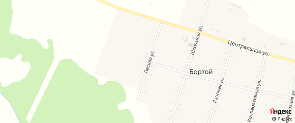 Лесная улица на карте Бортой улуса с номерами домов