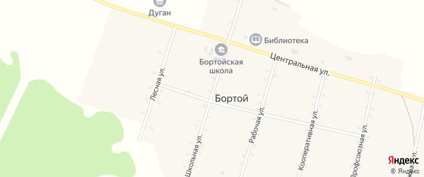Школьная улица на карте Бортой улуса с номерами домов