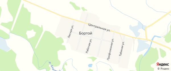 Карта Бортой улуса в Бурятии с улицами и номерами домов