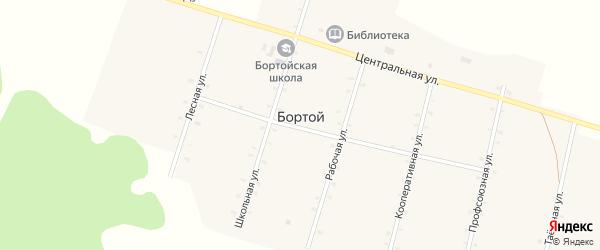 Центральная улица на карте Бортой улуса с номерами домов