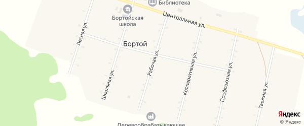 Рабочая улица на карте Бортой улуса с номерами домов