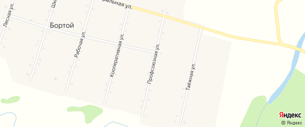 Профсоюзная улица на карте Бортой улуса с номерами домов