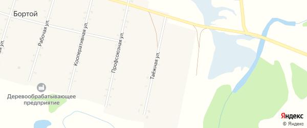 Таежная улица на карте Бортой улуса с номерами домов