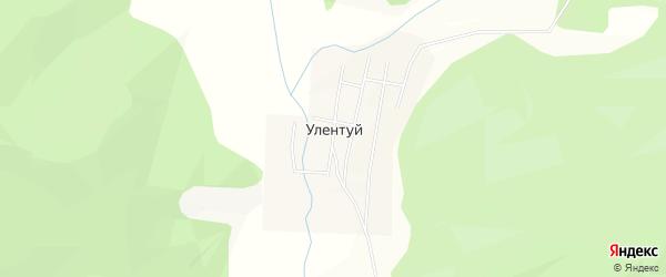 Карта улуса Улентуй в Бурятии с улицами и номерами домов