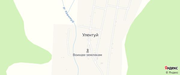 Местность Юхта на карте улуса Улентуй с номерами домов