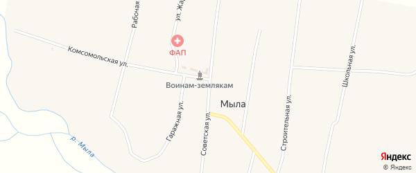 Советская улица на карте улуса Мыла с номерами домов