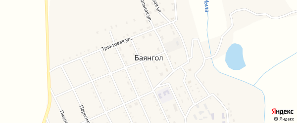 Набережная улица на карте села Баянгола с номерами домов