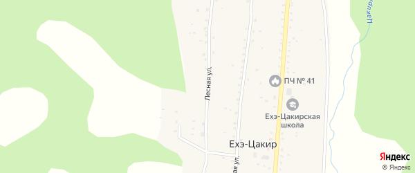 Лесная улица на карте улуса Ехэ-Цакир с номерами домов