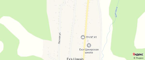 Солнечная улица на карте улуса Ехэ-Цакир с номерами домов
