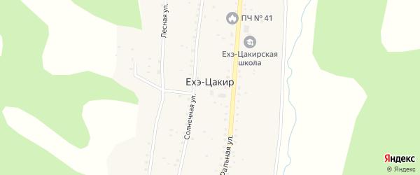 Местность Хантурино на карте улуса Ехэ-Цакир с номерами домов