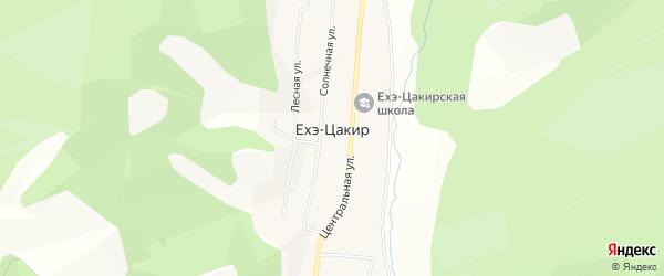 Карта улуса Ехэ-Цакир в Бурятии с улицами и номерами домов