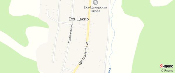 Центральная улица на карте улуса Ехэ-Цакир с номерами домов