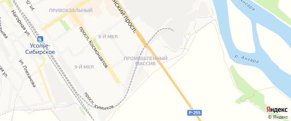 Карта территории Промышленный узел база оборудования города Саянска в Иркутской области с улицами и номерами домов