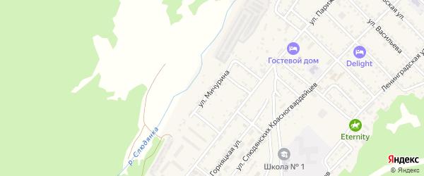 Улица Мичурина на карте Слюдянки с номерами домов