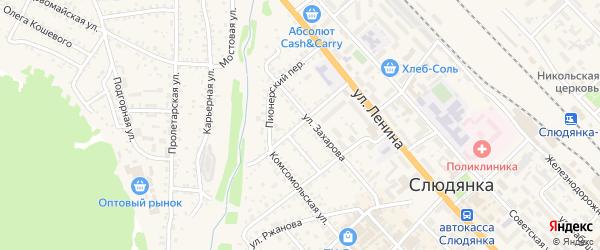 Колхозная улица на карте Слюдянки с номерами домов