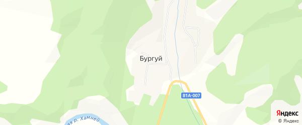 Местность Верхний Бургуй на карте улуса Бургуй с номерами домов