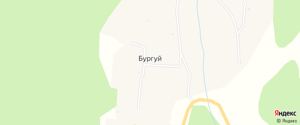 Местность Дабани нуга на карте улуса Бургуй с номерами домов