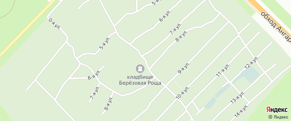 Центральная улица на карте садового некоммерческого товарищества Проектировщика с номерами домов