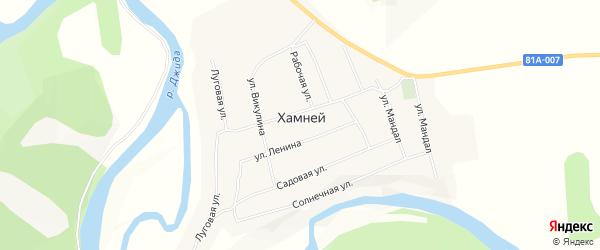 Карта села Хамнея в Бурятии с улицами и номерами домов