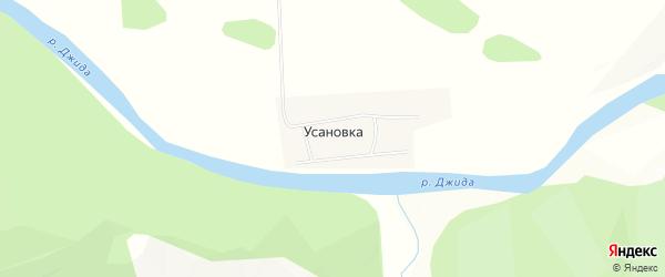 Карта поселка Усановки в Бурятии с улицами и номерами домов