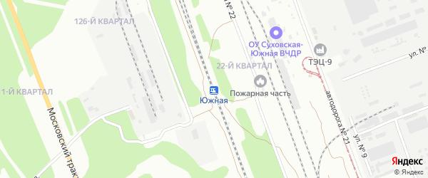 Южная 1-й проезд на карте Улан-Удэ с номерами домов